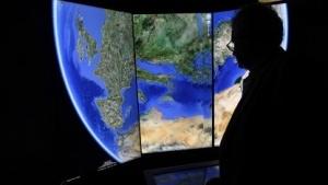 Ein dreidimensionales Bild der Erde erstellt mit Hilfe von Google Earth