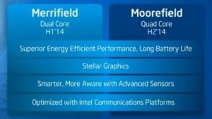 Merrifield bietet zwei Silvermont-, Moorefield vier Airmont-Kerne.