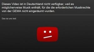 Aus urheberrechtlichen Gründen sind zahlreiche Youtube-Videos in Deutschland blockiert.