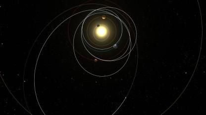 Rosettas Weg zu Tschurjumow-Gerasimenko: Schleifen durch das Sonnensystem