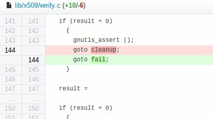 """Auch bei GnuTLS heißt es: """"goto fail""""."""