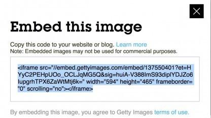Einbettungscode von Getty Images