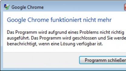 Chrome stürzt beim Schicken kurzer Schlüsselaustausch-Parameter ab.