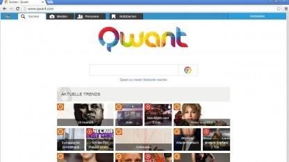 Nur auf der Startseite zeigt Qwant große Ähnlichkeit mit Google.
