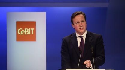 David Cameron auf der Cebit 2014