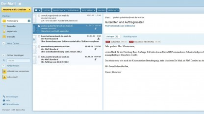 De-Mail-Nutzung bei Gmx
