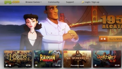 Startseite von Gog.com