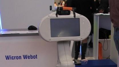 Webot: Telepräsenzroboter mit handelsüblicher Webcam