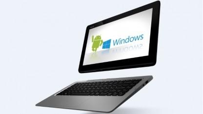 Das Tranformer Book TD300 mit Android und Windows 8.1