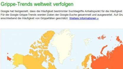 Google Flu Trends hat Grippefälle falsch vorausgesehen.
