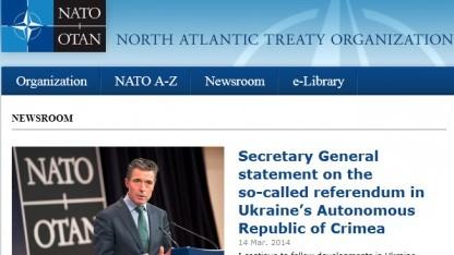 Auch die Nato-Hauptseite war Opfer der DDoS-Attacke.