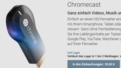 Googles HDMI-Stick Chromecast kostet 35 Euro.