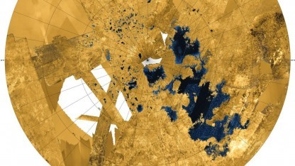 Nordpol des Saturn-Mondes Titan: Seen aus flüssigem Methan