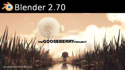 Blender 2.70 hat eine leicht veränderte Oberfläche.
