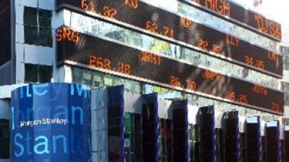 Kursdisplay bei Morgan Stanley: Hier soll Box bald erscheinen.