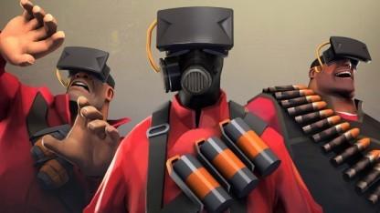Team-Fortress-2-Figuren mit Oculus Rift