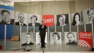 Cebit-Chef Oliver Frese bei der Aufbaupressekonferenz