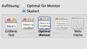 Bald gibt es auch für  4K-Displays Retina-Einstellungen.