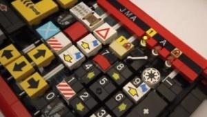 Die voll funktionsfähige Tastatur aus Lego