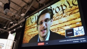Edward Snowden wurde bei der SXSW-Konferenz per Video interviewt.