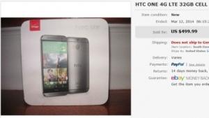 HTCs neues One-Modell wurde auf eBay verkauft.