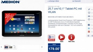 Medions 10-Zoll-Tablet Lifetab E10320