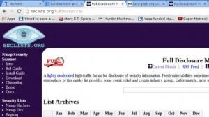 Eines von vielen Archiven, unter denen man Full-Disclosure-Mails abrufen kann