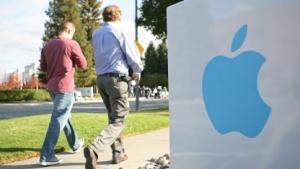Apple-Logo am Firmensitz in Cupertino