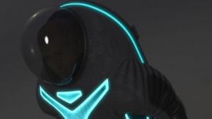 Raumanzug Z-2: Einstieg durch Öffnung am Rücken