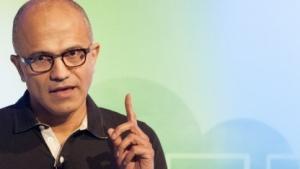 Microsoft-Chef Satya Nadella bei der Vorstellung von Office für iPad