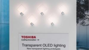 Transparente OLED-Leuchtmittel gibt es von Toshiba vorerst nur als Prototypen.