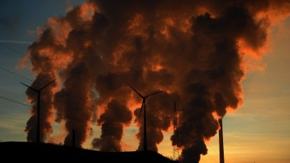 Kohlekraftwerk Scholven in Gelsenkirchen am 16. Januar 2012