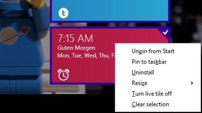 Das Kontextmenü ist mit Update 1 wieder da.