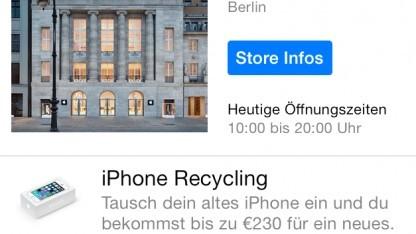 Apple gibt Rabatt beim Kauf eines neuen iPhone-Modells.