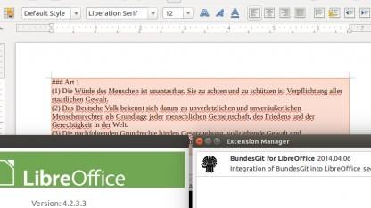 Bundesgit in Libreoffice