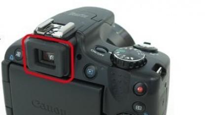 Betroffene Stelle an der Canon PowerShot SX50 HS