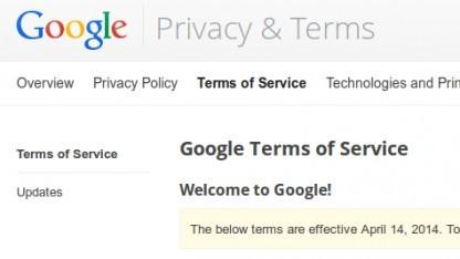 Google hat seine AGB geändert. Benutzer stimmen jetzt explizit der Durchsuchung ihrer E-Mails zu.