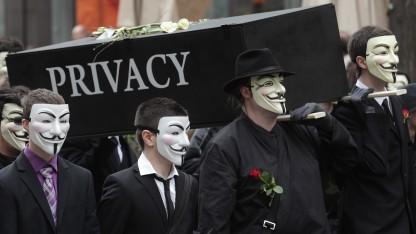 Protest gegen die Vorratsdatenspeicherung in Wien