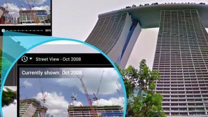 Google Street View mit Zeitleiste