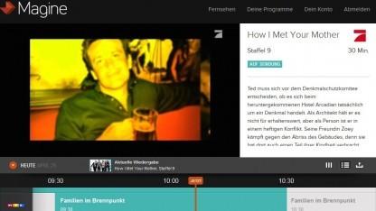 Magine TV im Browser
