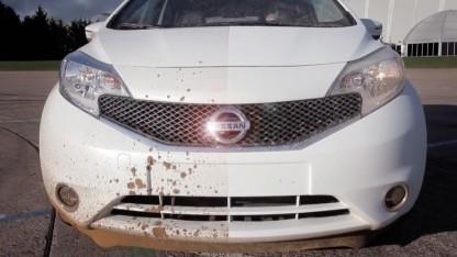 Halbseitige Lackierung eines Nissan Note mit Ultra Ever Dry