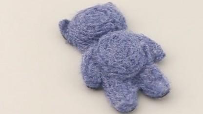 Aus Wolle gedruckter Teddybär