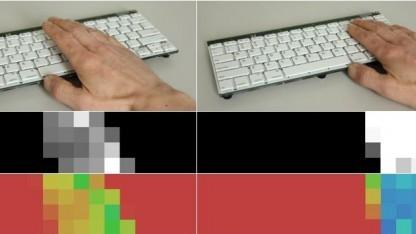 Ein Raster aus Infrarotsensoren registriert die Handbewegungen.