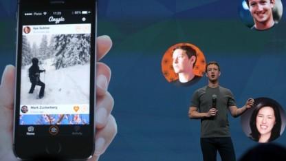 Facebook-Chef Mark Zuckerberg während der Keynote zur Entwickler-Konferenz f8