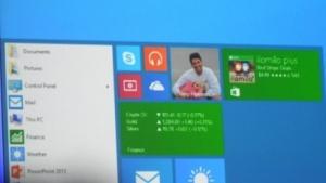 Künftiges Startmenü auf der Build: Die Kacheloberfläche wird in Windows integriert.