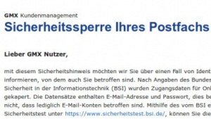 Mit der Sicherheitssperre verwirren GMX und Web.de viele Nutzer.