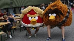 Zumindest vom Kostüm her wütend: Fans von Angry Birds
