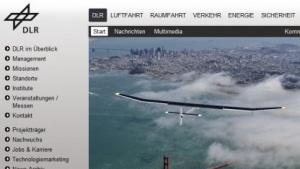 Webseite des Deutschen Zentrums für Luft- und Raumfahrt (DLR)