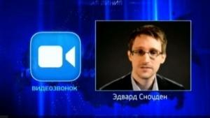 Ex-Agent Snowden befragt Ex-Agent Putin im russischen Fernsehen.