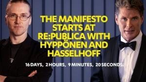 F-Secure Chief Research Officer Mikko Hypponen (links) und David Hasselhoff
